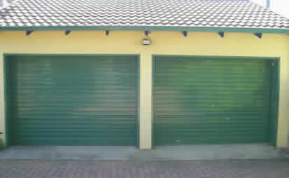 Green Roll-Up-Garage-Door